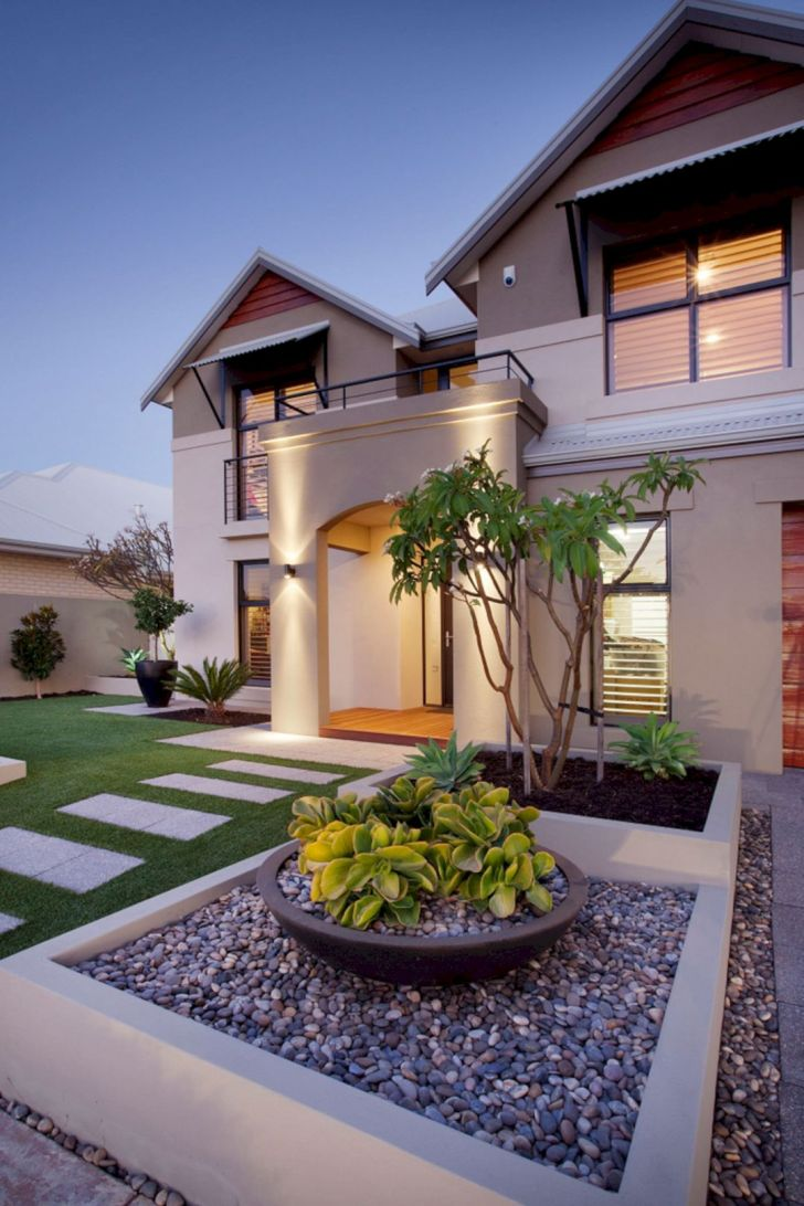 8 Beautiful Modern Front Yard Landscaping Ideas That Inspired You Dexorate