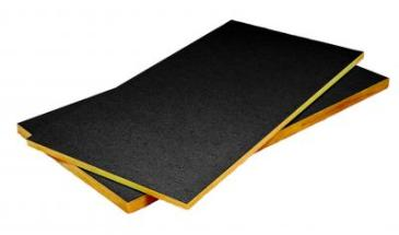 black acoustic ceiling board