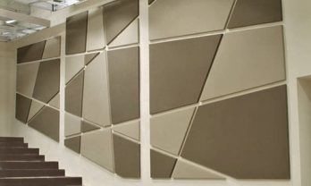 Acoustic fabric panel off sized