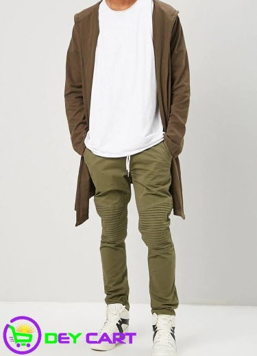 Forever21 Moto Twill Pants - Olive 0