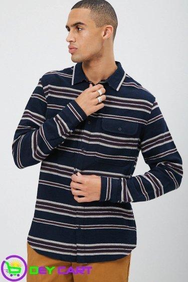 Forever21 Multi Color Striped Shirt - Navy/Multi 0