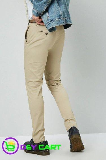 Forever21 Slim-Fit Chino Pants & Belt - Khaki 1