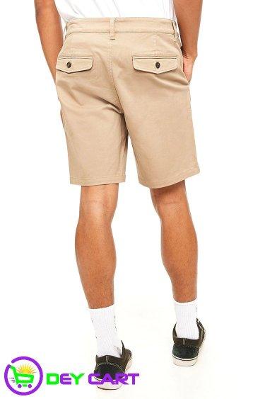Woven Twill Shorts - Khaki 1