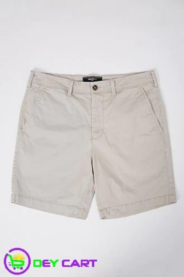 Forever21 Woven Twill Shorts - Taupe