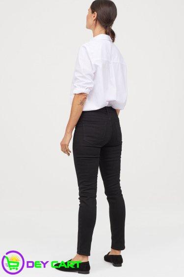 H&M Skinny Regular Ankle Jeans - Black Denim1