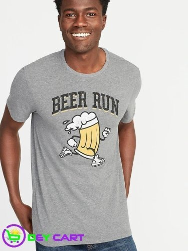 Old Navy Beer Run Graphic Tee - Grey
