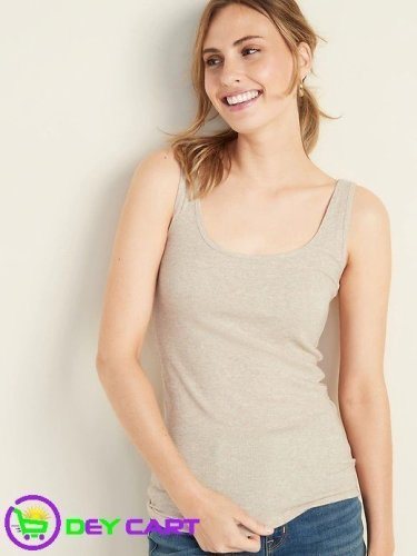 Old Navy Fitted Rib-Knit Tank - Heather Oatmeal 0