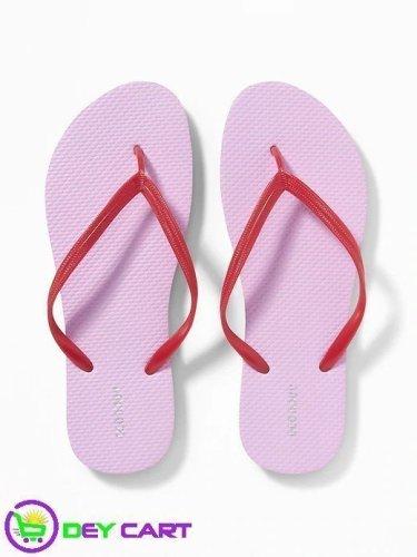 Old Navy Flip-Flops - Women - Lavender/Red