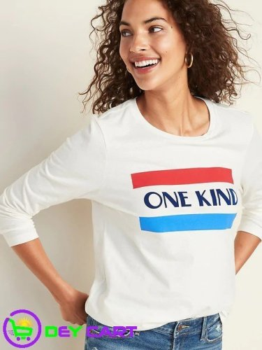 Old Navy Long-Sleeve Graphic Tee - White