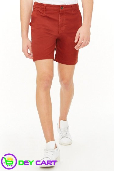 Woven Twill Shorts - Brick 0