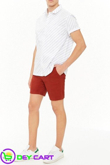 Forever21 Woven Twill Shorts - Brick 00