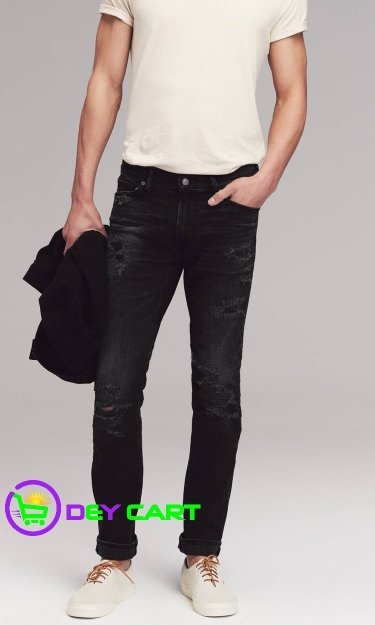 Abercrombie & Fitch Distressed Skinny Jeans - Black 0