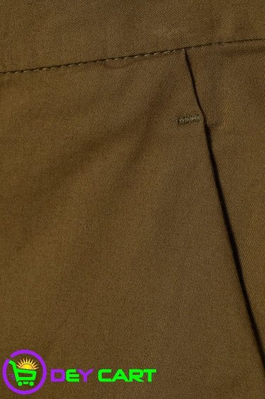 H&M Slim Fit Cotton Chinos - Khaki Green