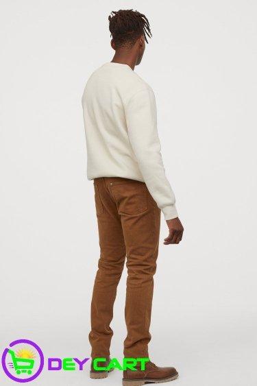H&M Slim Straight Jeans - Brown 1