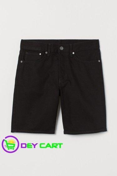 H&M Straight Denim Shorts - Black 0