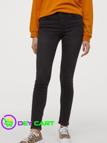 H&M Super Skinny Jeans - Dark Grey Denim 0