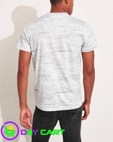 Hollister Crewneck Logo T-Shirt - Heather Grey 1
