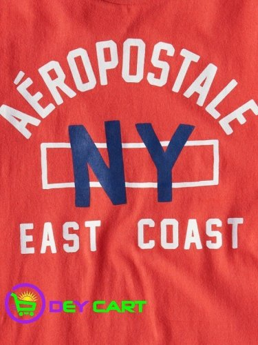 Aeropostale NY East Coast Logo Graphic Tee - Lollipop