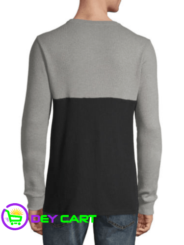 Arizona Colorblock Long Sleeve Thermal Top - Black and Grey 1
