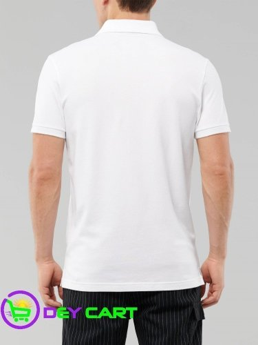 Hollister Stretch Polo - White 1