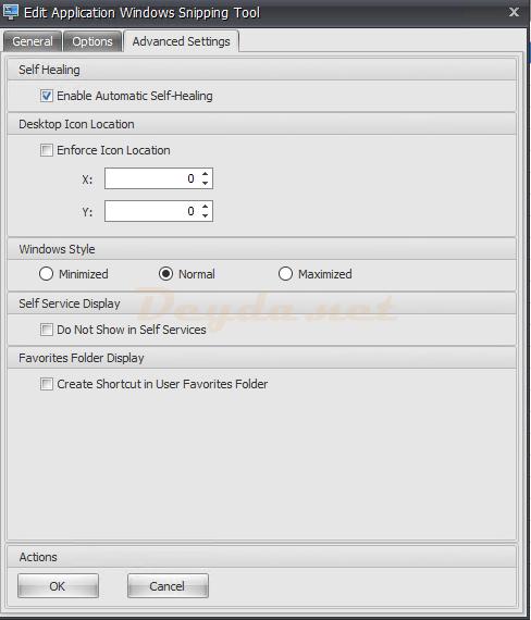 Application Advanced Settings