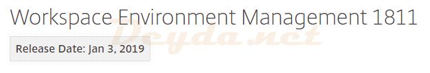 Workspace Environment Management Version 1811 ist veröffentlicht