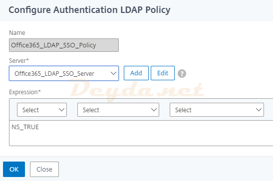 Create Authentication LDAP Policy