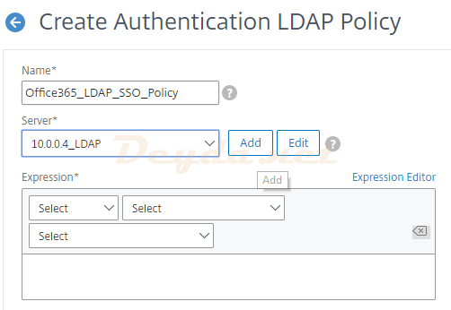 Configure Authentication LDAP Policy
