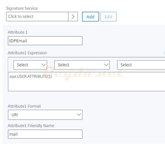 Create SAML SSO Profile Attribute 1