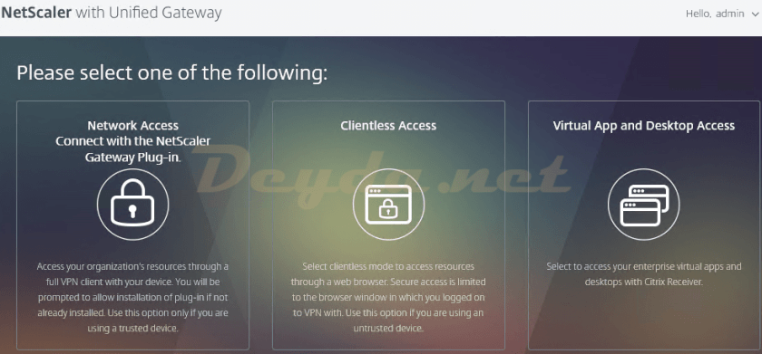 Unified Gateway Client Choice