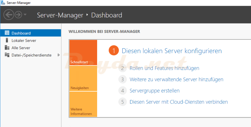 Server-Manager Dashboard