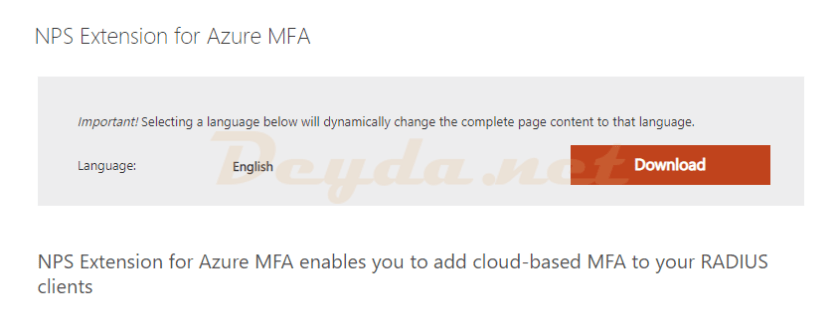 NPS Extension for Azure MFA