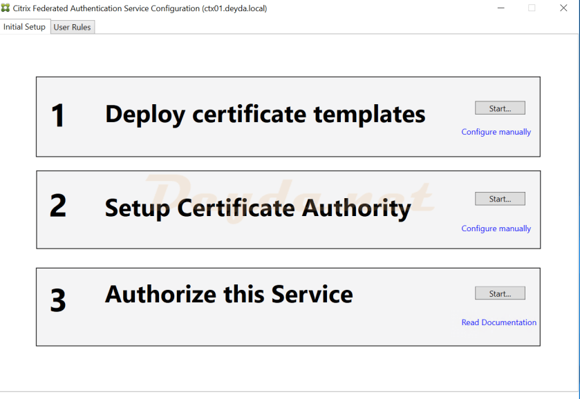 Citrix Federated Authentication Service Configuration