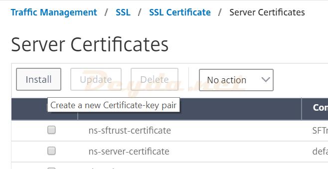 Server Certificates Install Azure Portal Signature Certificate