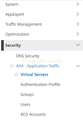 NetScaler ADC SAML Security AAA - Application Traffic Virtual Servers