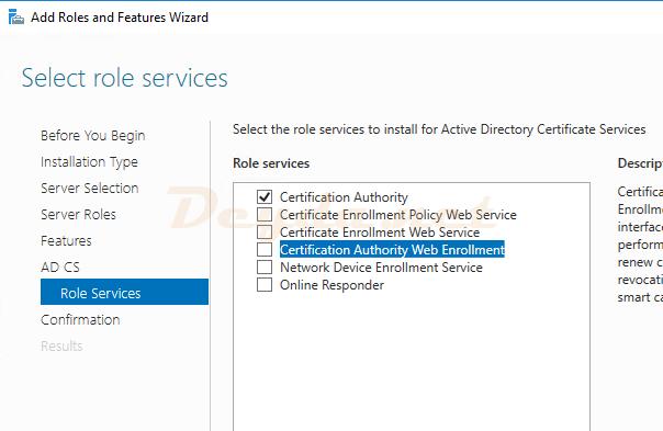 AD CS Role Services