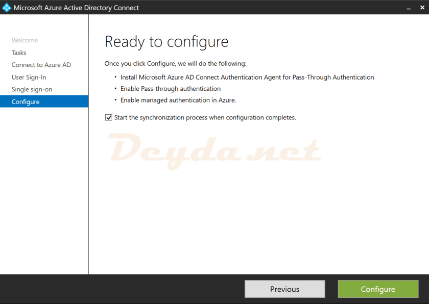 Configure Ready to configure