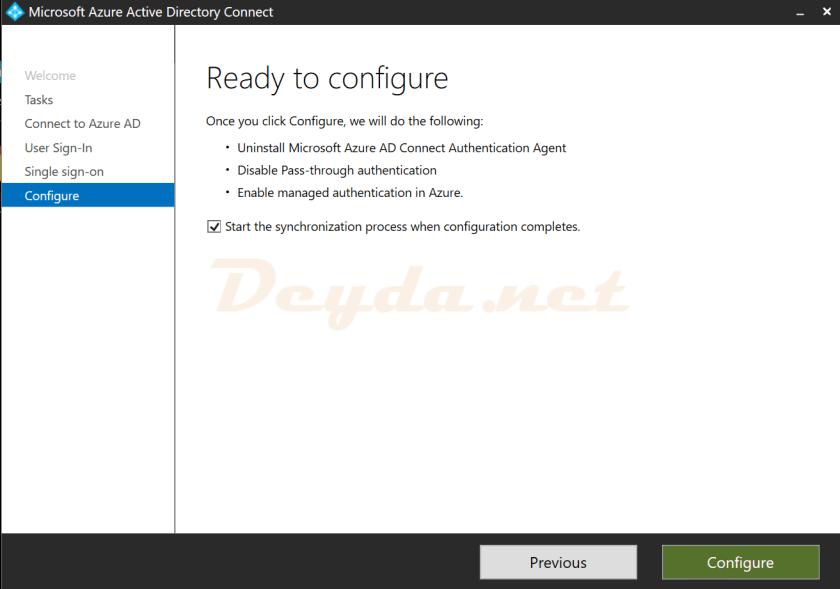 Configure Ready to configure