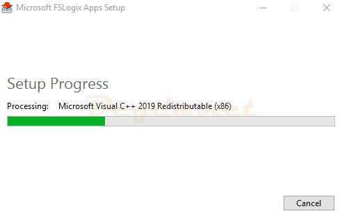 Setup Progress Processing