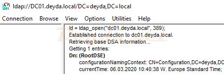 LDAP Connection ldap_open