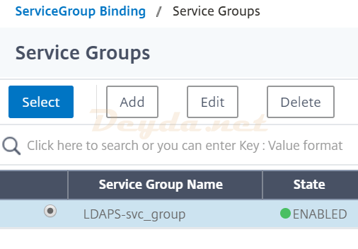 ServiceGroup Binding Service Groups