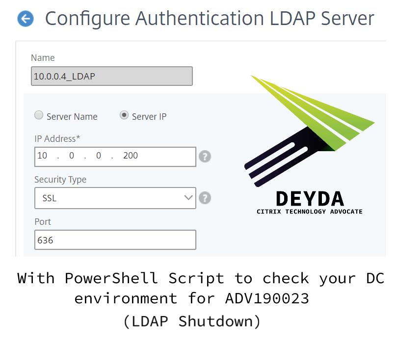 ADV190023 – LDAPS aktivieren in Windows DC und Citrix ADC