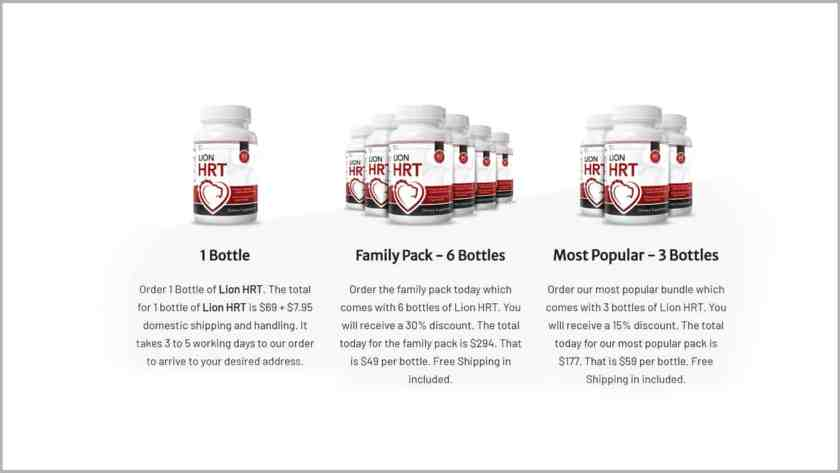 Price-Lion HRT Supplement Review