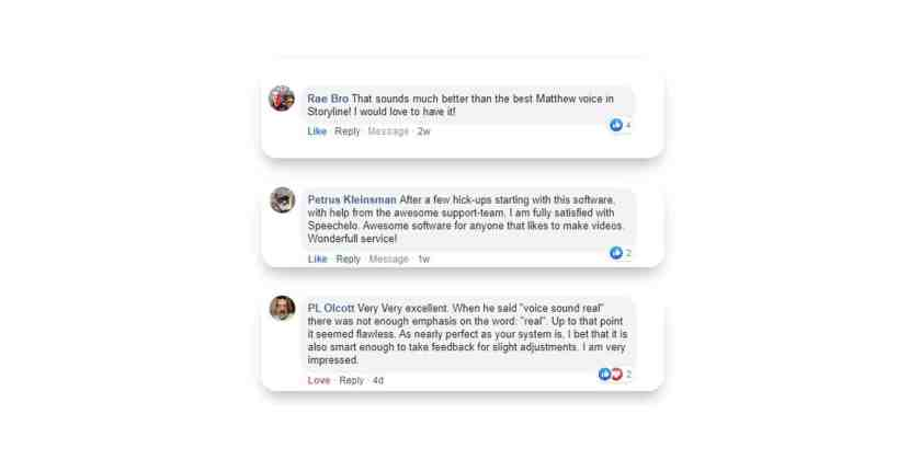Speechelo customer Reviews