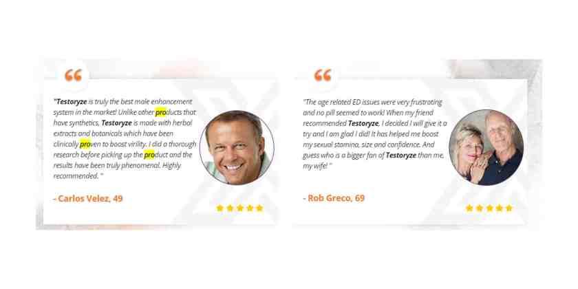 Testoryze customer reviews