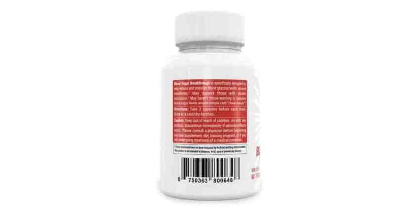 BiOptimizers Blood Sugar Breakthrough Dosage