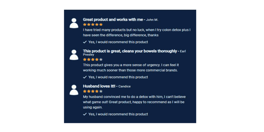 Colon Detox Plus Customer Reviews