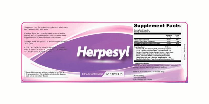 Herpesyl Supplement Dosage