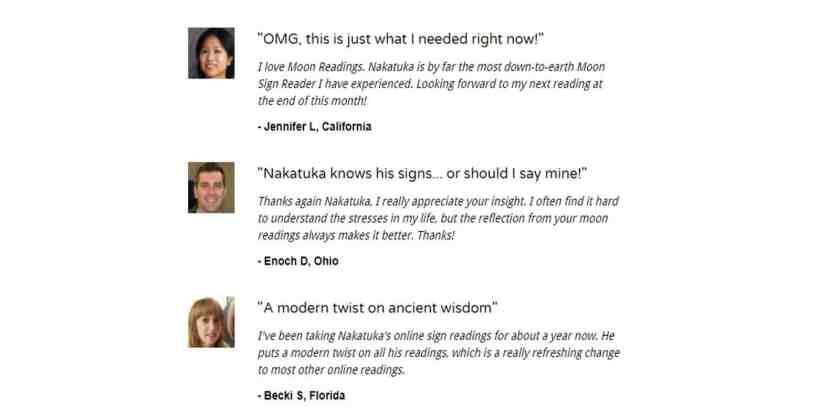 Nakatuka's Moon Reading Customer Reviews