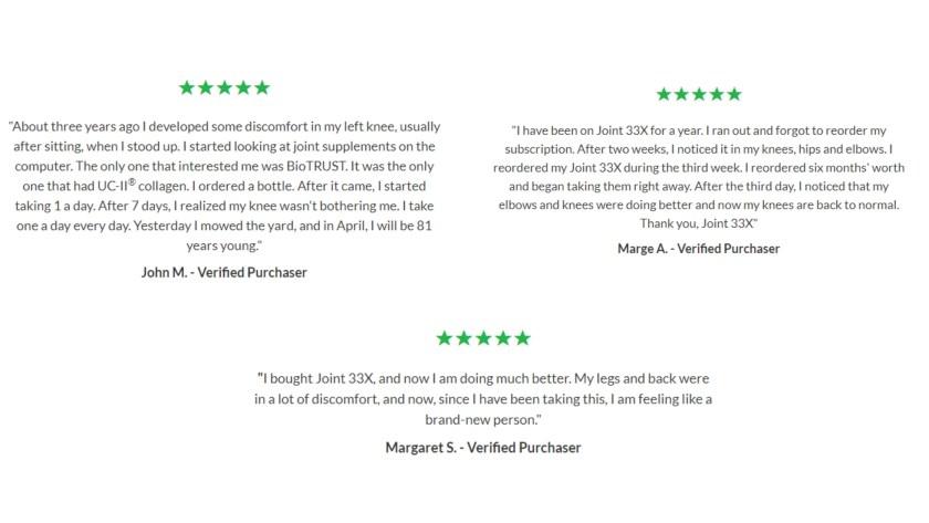Joint 33X Customer Reviews